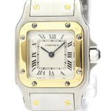 Cartier Santos Galbee Quartz Stainless Steel,Yellow Gold (18K) Women's Dress Watch