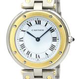 Cartier Santos Round Quartz Stainless Steel,Yellow Gold (18K) Men's Dress Watch