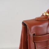 エルメス 2wayバッグ ケリー32 〇V刻印 ボックスカーフ ブラウン ゴールド金具