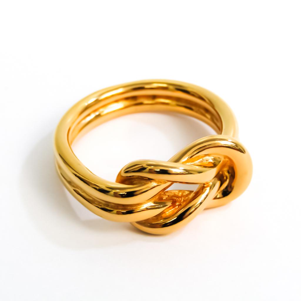 エルメス(Hermes) メタル スカーフリング ゴールド アタメ