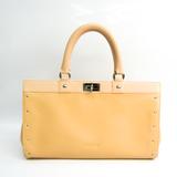 Loewe 38.79.002 Women's Leather Handbag Beige