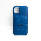 Bottega Veneta Intrecciato Leather Phone Flip Case For IPhone 11 Blue 621307