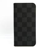 Louis Vuitton Damier Graphite Damier Graphite Phone Flip Case For IPhone X Damier Graphite iPhoneX Folio M63445