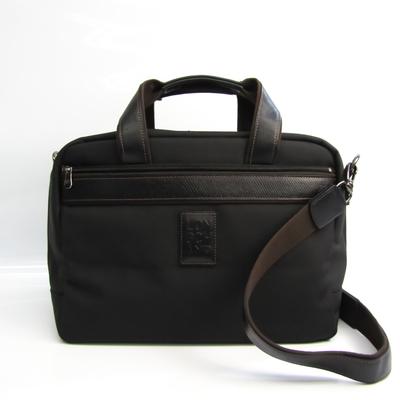 ロンシャン(Longchamp) ユニセックス ナイロン,レザー ボストンバッグ ブラック,ブラウン
