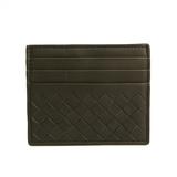 Bottega Veneta Intrecciato 162150 Leather Card Case Khaki