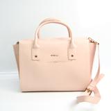 Furla Linda Women's Leather Handbag,Shoulder Bag Pink Beige