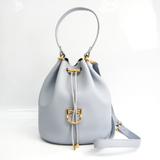 Furla CORONA SMALL DRAWSTRING Women's Leather Handbag,Shoulder Bag Light Purple