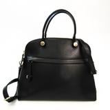 Furla Piper M 768383 Women's Leather Handbag Black
