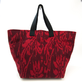 Bottega Veneta 234571 Unisex Canvas Handbag,Shoulder Bag Black,Bordeaux,Red Color