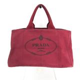 Prada Canapa Unisex Canvas Handbag Bordeaux