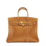 エルメス ハンドバッグ バーキン35 □F刻印 クシュベル ゴールド ゴールド金具
