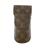 Auth Louis Vuitton Monogram Etui Lunette rabat M62970 Soft Eyeglass Case