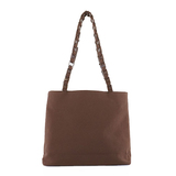 Auth Salvatore Ferragamo Vara Tote Bag Women's Cotton Tote Bag Brown