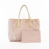 Auth Salvatore Ferragamo Gancini Tote Bag Women's PVC Tote Bag Pink