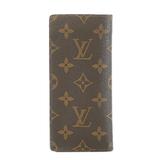 Auth Louis Vuitton Monogram Etuy Lunet Sampur M62962 Eyeglass Case, Brown