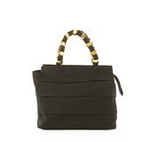 Auth Salvatore Ferragamo Vara 2WAY Bag Women's Cotton Handbag Black