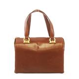 Auth Salvatore Ferragamo Vara 2WAY Bag Women's Leather Handbag Brown