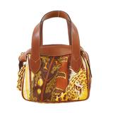 Auth Salvatore Ferragamo Handbag Women's Nylon Handbag Brown
