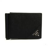 Prada SAFFIANO ACTIVE 2MO513 Men's Leather Bill Wallet (bi-fold) Black