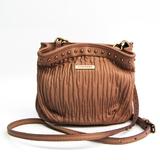 Burberry 3722945 Women's Leather Shoulder Bag Pink Beige