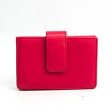 Prada SAFFIANO ORO 1M1211 Saffiano Card Case Peonia