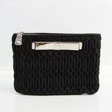 Miu Miu Women's Nylon Clutch Bag Black