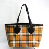 Burberry Reversible 4069796 A74270 Unisex Canvas,Leather Tote Bag Beige,Black,Red Color,White