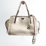 Coach Dreamer 21 38543 Women's Leather Handbag,Shoulder Bag Metallic Gold