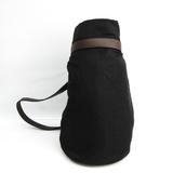 Celine Saluki Women's Canvas,Leather Shoulder Bag Black,Brown