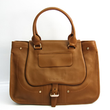 Longchamp Duffel Bag 1833 714 604 Women's Leather Tote Bag Camel