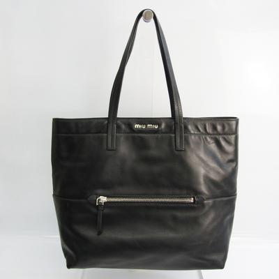 Miu Miu Women's Leather Tote Bag Black