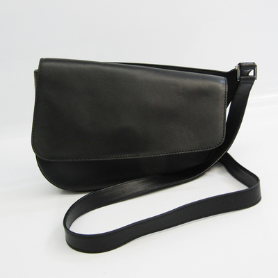 Salvatore Ferragamo AF-21 4919 Women's Leather Shoulder Bag Black
