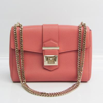 Jimmy Choo Women's Leather Shoulder Bag Dusty Pink