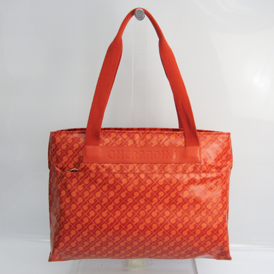 Gherardini Women's Nylon,Leather Shoulder Bag Orange