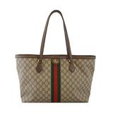 Auth Gucci Sherry Line Tote Bag 631685 Women's GG Supreme Handbag,Shoulder Bag,Tote Bag Beige