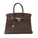 Auth Hermes Birkin Birkin 30 □ L Engraved Tail Women's Togo Leather Handbag