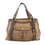 Auth Celine Handbag Women's Suede Handbag Brown