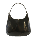 Auth Salvatore Ferragamo Gancini Shoulder Bag Women's Leather Shoulder Bag Black