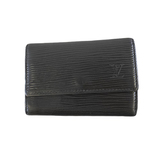 Auth Louis Vuitton Epi Multicles6 M63812 Men,Women,Unisex Epi Leather Key Case Black