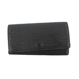 Auth Louis Vuitton Epi M63822 Men,Women,Unisex  Key Case Noir