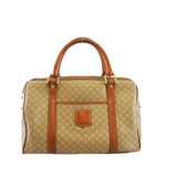 Auth Celine Macadam Handbag Women's PVC Handbag Beige