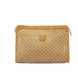 Auth Celine Macadam Women's PVC Clutch Bag,Pouch Beige