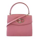 Auth Salvatore Ferragamo Gancini 2way Bag Women's Leather Handbag,Shoulder Bag Pink