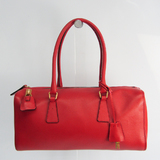 Prada Women's Leather Handbag Red Color