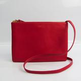 Celine Trio Large 171453 Women's Leather Shoulder Bag Red Color
