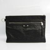 Balenciaga Classic Clip M 273022 Unisex Leather Clutch Bag Black