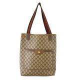Auth Gucci Sherry Line 39 02 003 Women's GG Supreme Tote Bag Beige