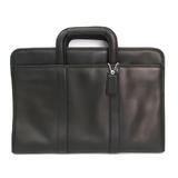 Coach F70847 Unisex Leather Briefcase Black