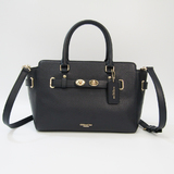 Coach Blake Carryall 25 In Bubble Leather F55665 Women's Leather Handbag,Shoulder Bag Navy