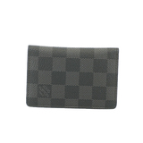 Auth Louis Vuitton Organizer De Poche N63075 Damier Graphite Card Case
